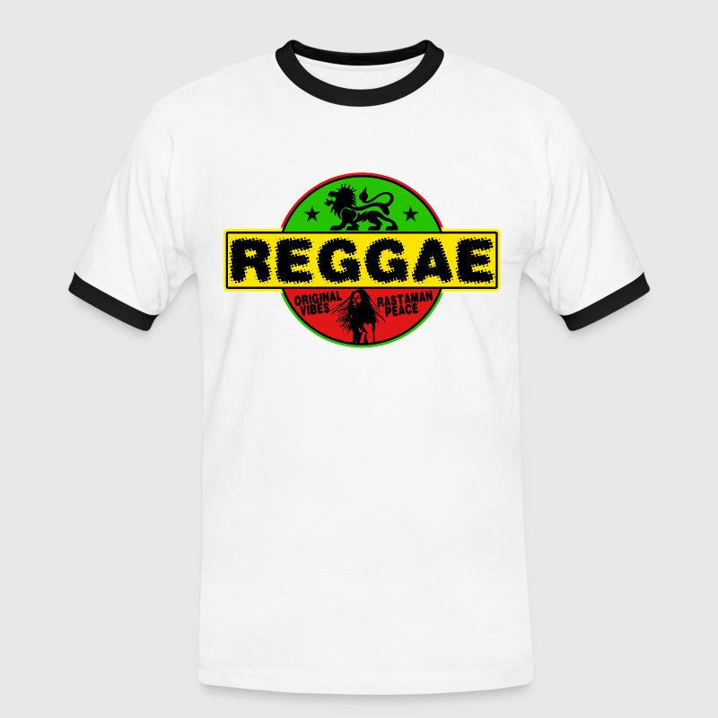 reggae original vibes rasta peace - Men's Ringer Shirt
