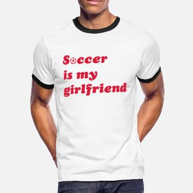 football soccer  - Men's Ringer Shirt
