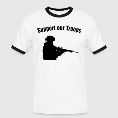 Support our Troops / soldier - Men's Ringer Shirt