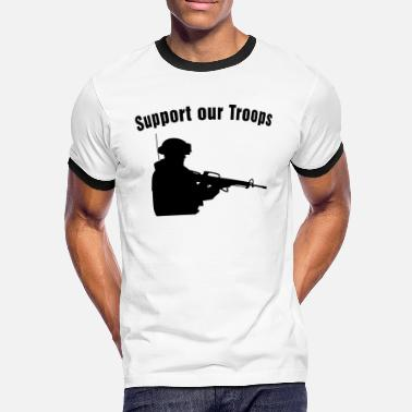 Support Our Troops Support our Troops / soldier - Men's Ringer Shirt