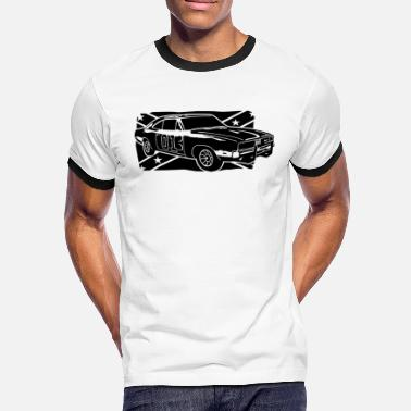 Charger General Lee Dodge Charger - Männer Kontrast-T-Shirt