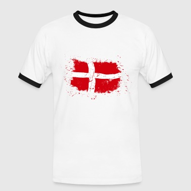 Denmark Flag - Vintage Look - Men's Ringer Shirt