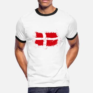 Denmark Denmark Flag - Vintage Look - Men's Ringer Shirt