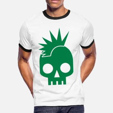 Punk Baby PUNK BABY skull with mohawk - Men's Ringer Shirt