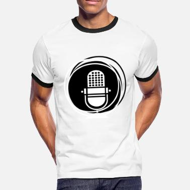 Vintage Record Retro microphone - vintage music recording - Men's Ringer Shirt