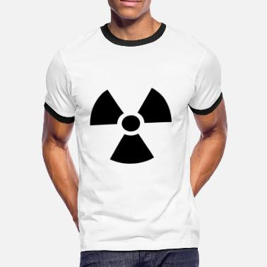 Verstrahlung Radiation Sign - Männer Kontrast-T-Shirt