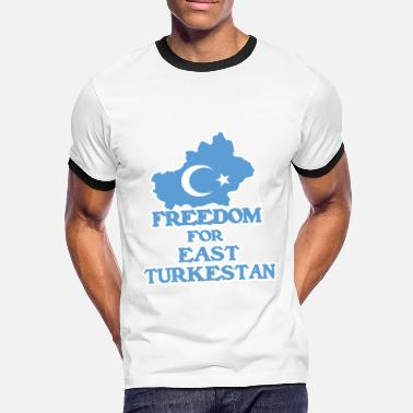 Türkce Freedom for East Turkestan - Men's Ringer Shirt