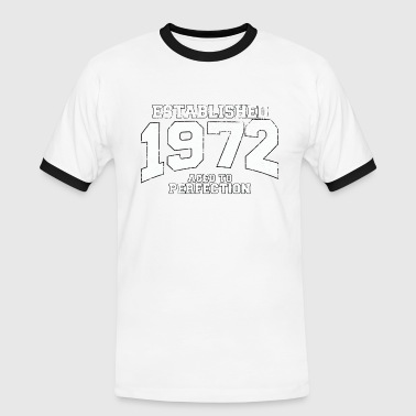 established 1972 - aged to perfection (es) - Camiseta contraste hombre