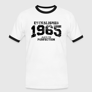 established 1965 - aged to perfection(nl) - Mannen contrastshirt