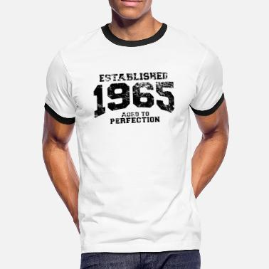 1965 established 1965 - aged to perfection(nl) - Mannen contrastshirt