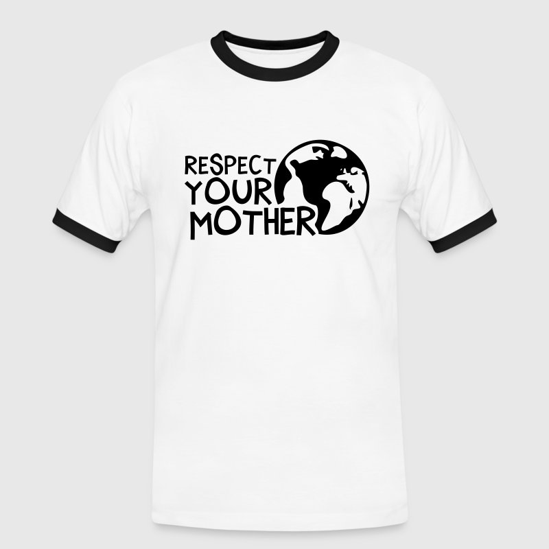 RESPECT YOUR MOTHER!, c, - Mannen contrastshirt