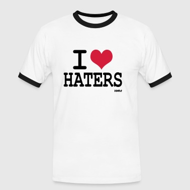 i love haters - Mannen contrastshirt
