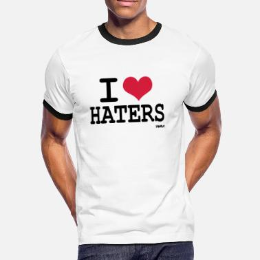 I Love Haters i love haters - Mannen contrastshirt