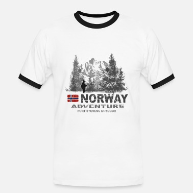 Norway - Norge - Norwegen - Fishing - Angeln - Männer Ringer T-Shirt
