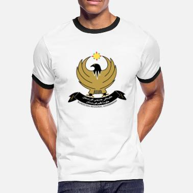 Iraqi Iraqi Kurdistan Coat of Arms - Men's Ringer Shirt