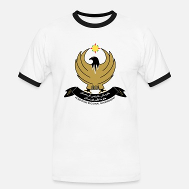 Iraqis Iraqi Kurdistan Coat of Arms - Men's Ringer Shirt