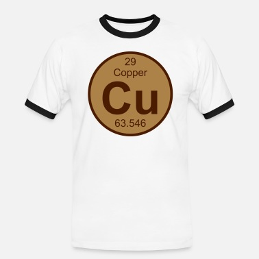 Copper Copper (Cu) (element 29) - Men's Ringer Shirt