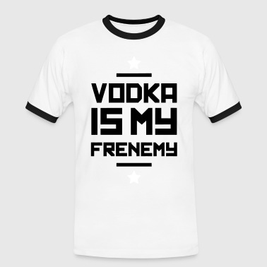 Vodka is my Frenemy - Männer Kontrast-T-Shirt