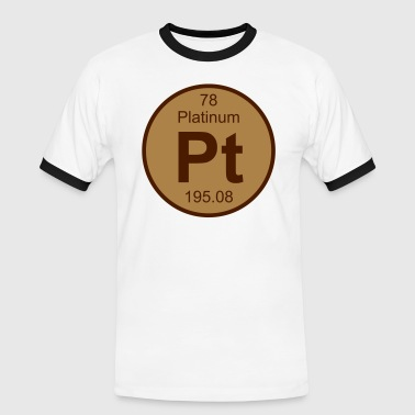 Element 78 - pt (platinum) - Round (white) - Herre kontrast-T-shirt