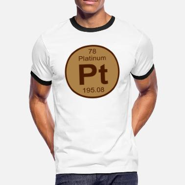 Pt Platinum (Pt) (element 78) - Men's Ringer T-Shirt