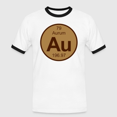 Element 79 - au (aurum) - Round (white) - Männer Kontrast-T-Shirt