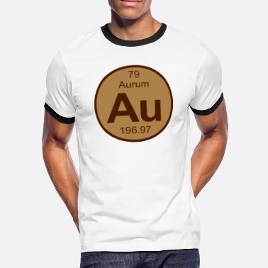 Aurum Element 79 - au (aurum) - Round (white) - Männer Kontrast-T-Shirt