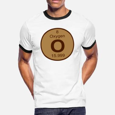 O Element Oxygen (O) (element 8) - Men's Ringer Shirt