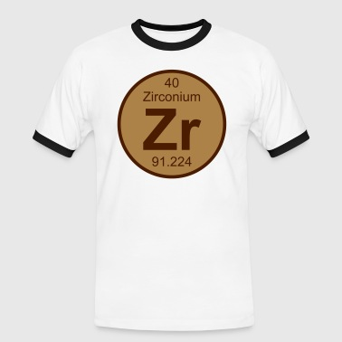 Zirconium (Zr) (element 40) - Men's Ringer Shirt