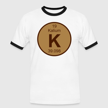 Element 19 - k (kalium) - Round (white) - Kontrast-T-skjorte for menn