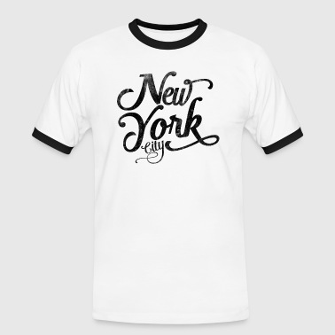 New York City typografi - Kontrast-T-skjorte for menn