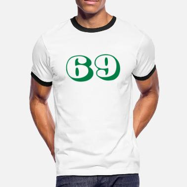 69 cool number 69 - Mannen contrastshirt
