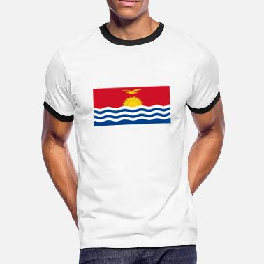 Kiribati Flag of Kiribati - Men's Ringer T-Shirt