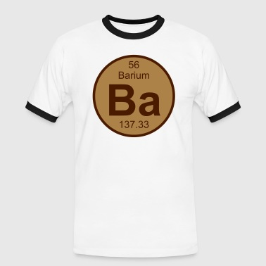 Barium (Ba) (element 56) - Men's Ringer Shirt