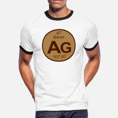 Silver Ag 47 Element 47 - ag (silver) - Round (white) - T-shirt contrasté Homme