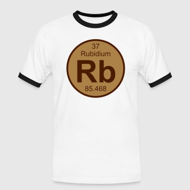 Element 37 - rb (rubidium) - Round (white) - Herre kontrast-T-shirt