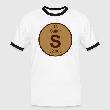 Sulfur (S) (element 16) - Men's Ringer Shirt