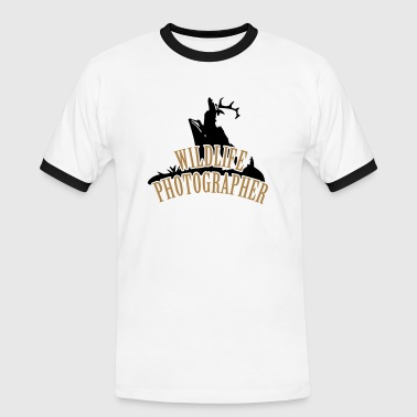 Wildlife Photographer (Deer scenery, 3c) - Men's Ringer Shirt