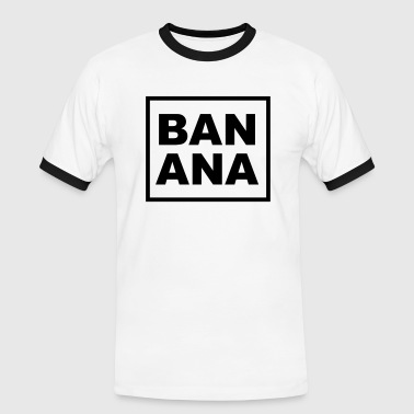 Joe BANANA - Männer Kontrast-T-Shirt