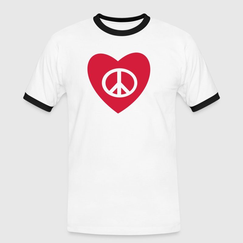 tatouage amour et paix peace and love tattoo - T-shirt contrasté Homme