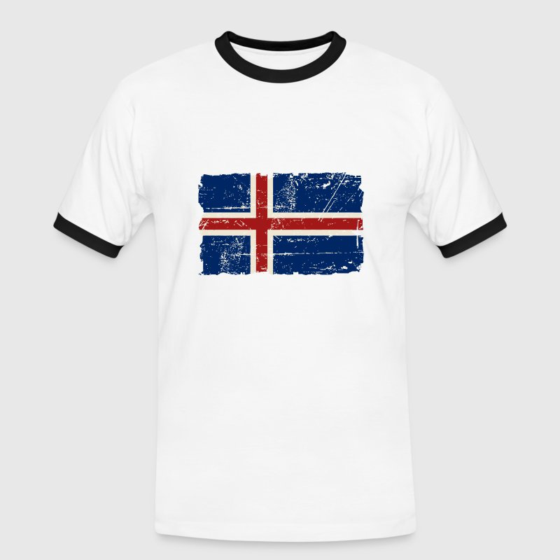 Iceland Vintage Flag - Men's Ringer Shirt