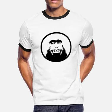 Primate Monkey head chimpanzee Primate Primate - Men's Ringer Shirt