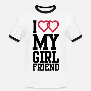 Girlfriend I love my Girlfriend - Men's Ringer Shirt