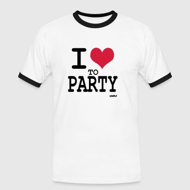 i love to party by wam - Männer Kontrast-T-Shirt