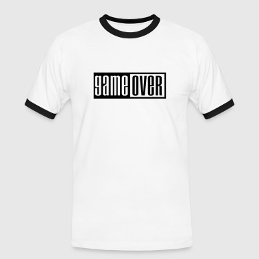 Pwnd game over outline - Camiseta contraste hombre