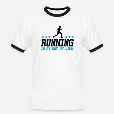S De Sport Way Of Life running is my way of life male 2c - T-shirt contrasté Homme