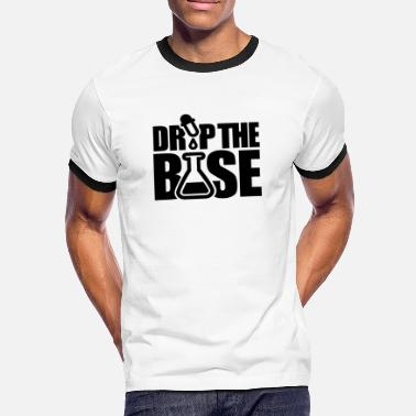 Drum And Bass Dj Drop the base - Mannen contrastshirt