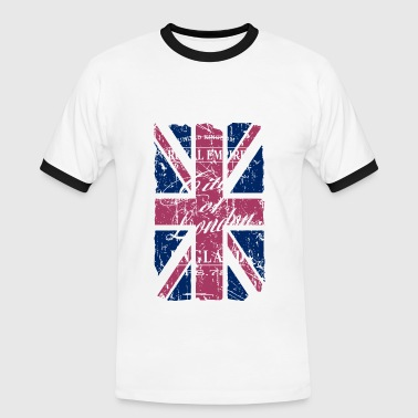 Union Jack - London - Vintage Look  - Men's Ringer Shirt