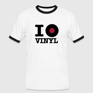 i love vinyl - Men's Ringer Shirt
