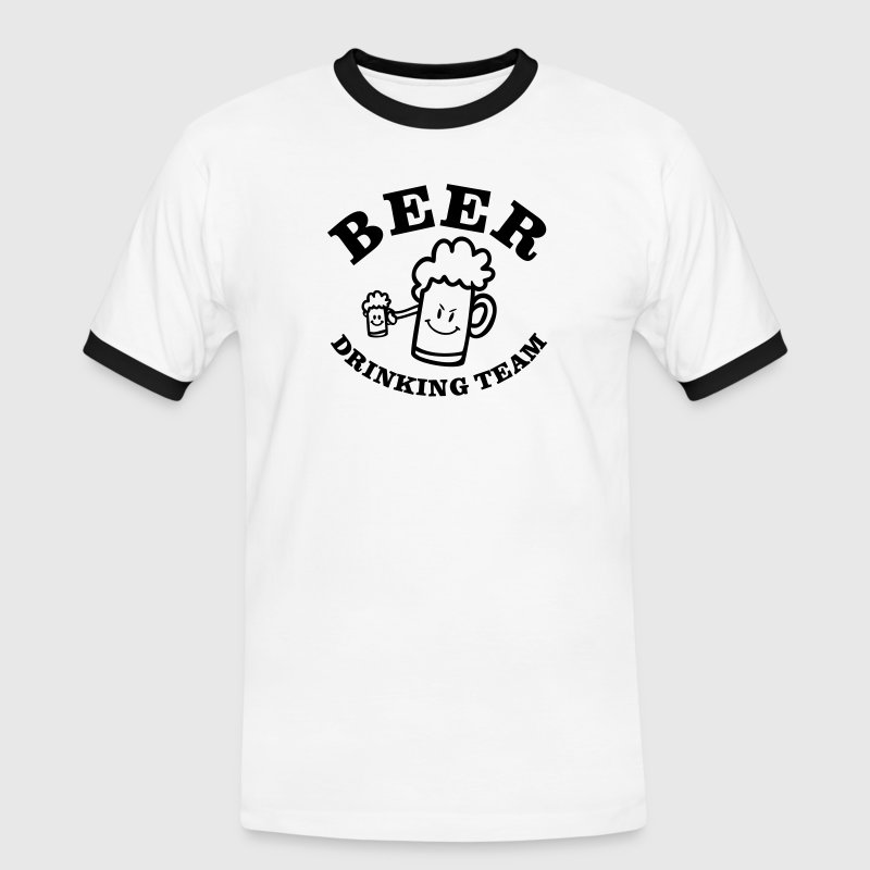 BEER DRINKING TEAM / vector / 1c / - Men's Ringer Shirt