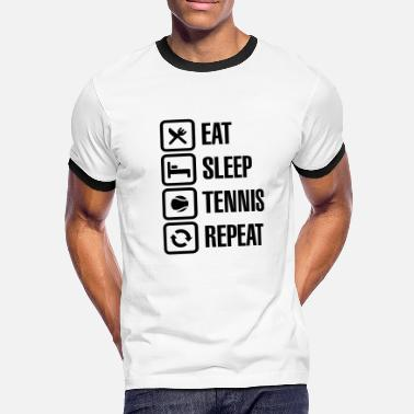 Us Open Eat Sleep Tennis Repeat - Kontrast-T-skjorte for menn